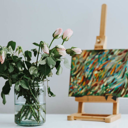 Art with flowers